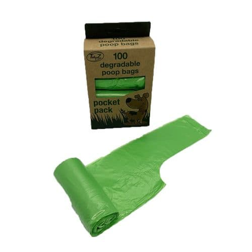 Degradable Tidyz Dog Poo Bags Tie Handles Green Strong also Handy Refill Rolls