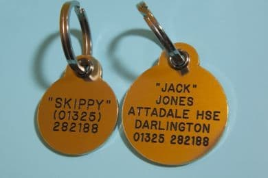 Deluxe Brass Pet ID Identification Tags