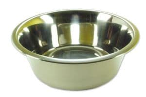 Deluxe Stainless Steel Dog Bowls approx 8 inch