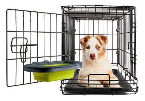 Dexas Silicone Collapsible Kennel Dog Bowl BRAND NEW Easy Durable Travel Bowl