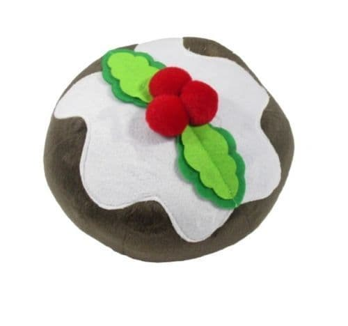 GOOD BOY Festive  Christmas Pudding Plush Ball Dog Toy