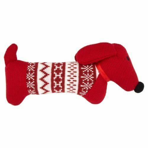 Good Boy Knitted Red Sausage Dog Dachshund Daxie Plush Cuddly Soft Dog Toy 12""
