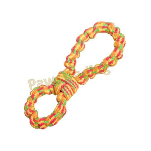 Good boy neon threads Bungee Fig 8 dog toy