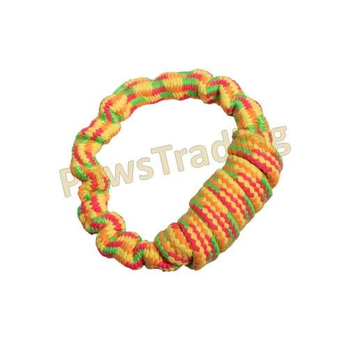 Good boy neon threads Bungee Ring dog toy