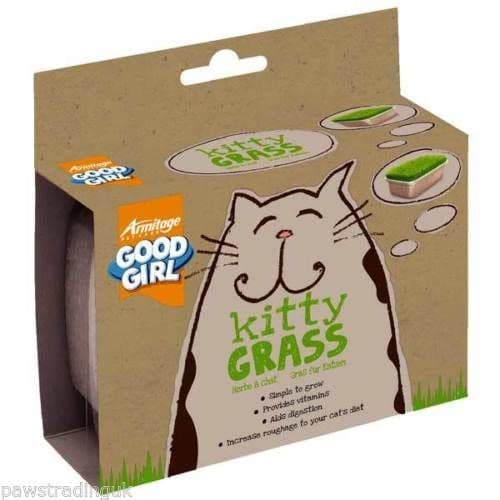 Good Girl Kitty Grass Simply Add Water Natural Fresh Green Roughage Indoor Cats