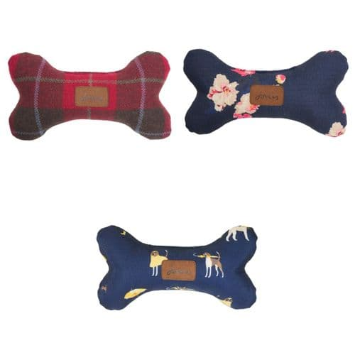 Joules Dog Collection - Plush Bone Pet Toy