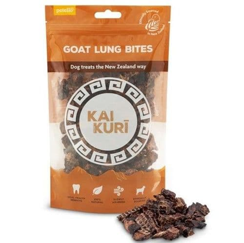 Kai Kuri Air-Dried Goat Lung Bites Dog Treat 60g