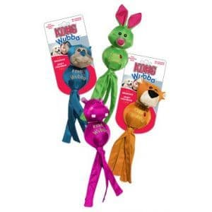 KONG Ballistic Wubba Friends Bunny, Panther, Monkey & Hippo Dog Toy