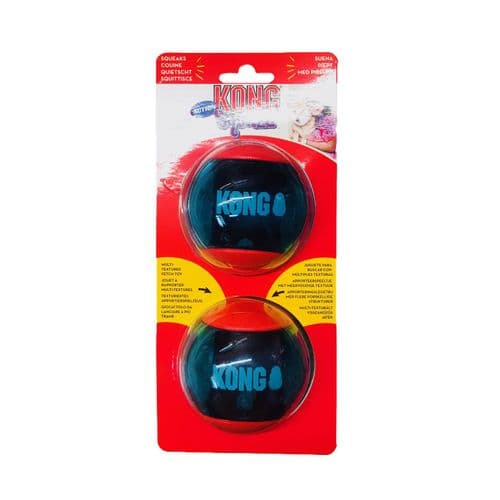 Kong Squeezz ACTION LARGE Ball Dog Toy Squeaky Play Balls - Approx 9cm