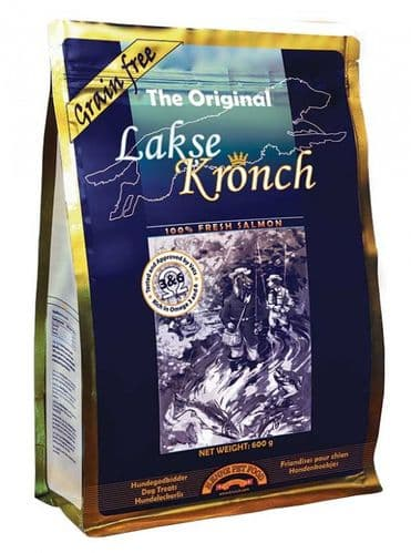 Large 600g Bag of Lakse Kronch 100% Salmon Treats for Dogs