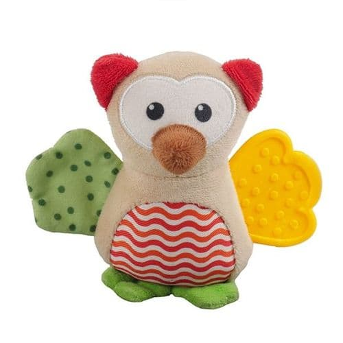 Little Nippers Wise Owl puppy and small  dog toy
