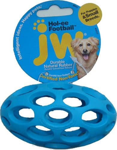 Mini Hol-ee Football / Rugby Ball Dog Toy (For Puppies & Small Breeds)