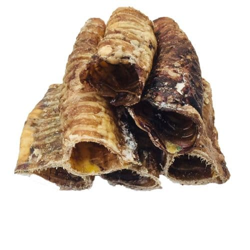 NATURAL TREATS 100% Natural Dog Treat and Chew Beef Moo Tubes Trachea Cut  approx 15cm