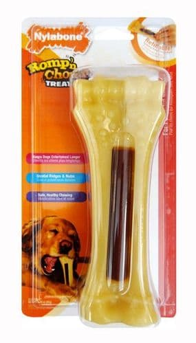 Nylabone Romp n Chomp chicken souper Treat Holder - out of date