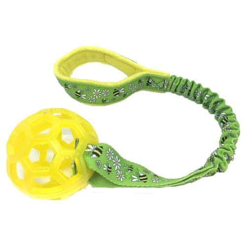 Paws Made™ Bungee Cage Ball 3.5inch Tuffs TPR Bright Colours