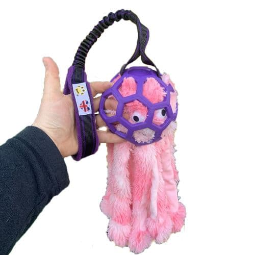 Paws Made™ Sebastian's Spawn Dog Toy Large Holee Ball Bungee and Octopus
