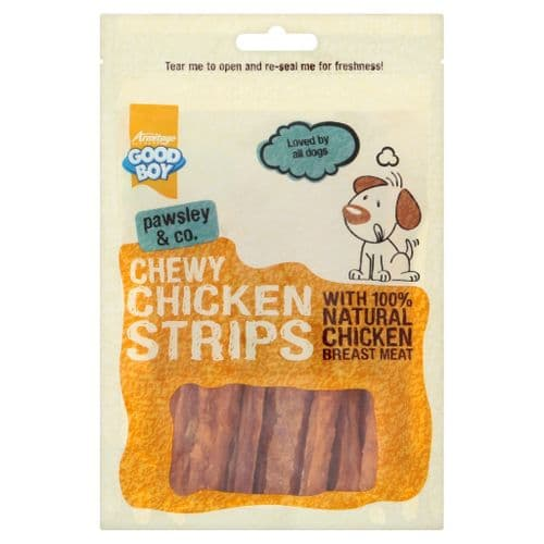 Pawsley Chewy Chicken Strips 100g Dog Treat