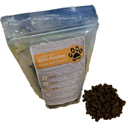Pawstrading™ Grain Free 80% POULTRY Training treats