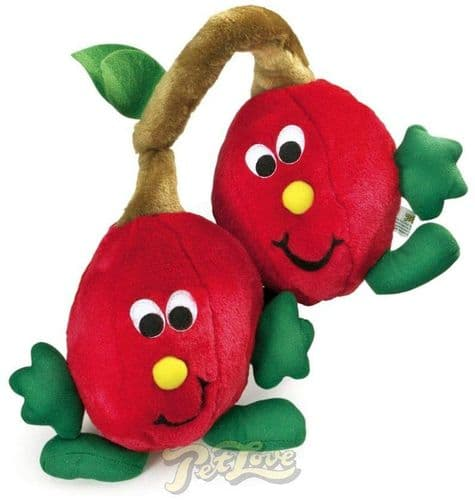 Pet Love Plush Twin cherries Honking Dog toy