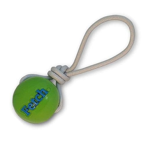 Planet dog FETCH BALL W/ROPE GREEN Durable and Floats