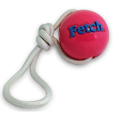 Planet dog FETCH BALL W/ROPE PINK Durable and Floats