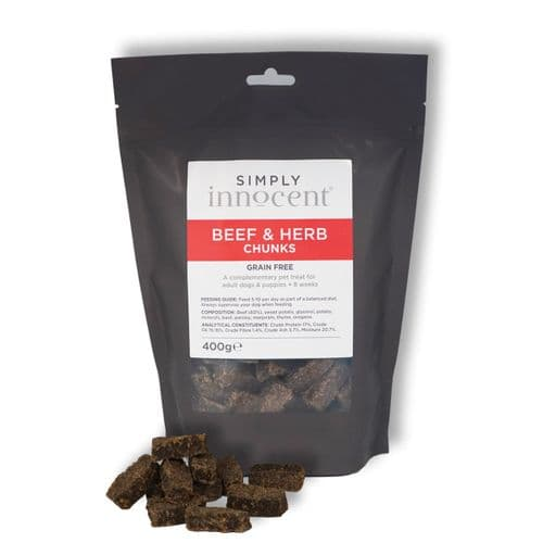 Simply Innocent Beef and Herb Chunks - 400g - Grain Free - By Innocent Hounds