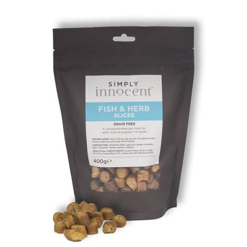 Simply Innocent Fish and Herb Slices - 400g - Grain Free - By Innocent Hounds