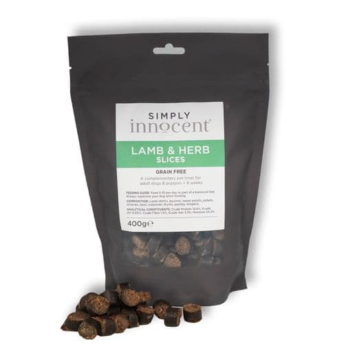 Simply Innocent Lamb and Herb Slices - 400g - Grain Free - By Innocent Hounds
