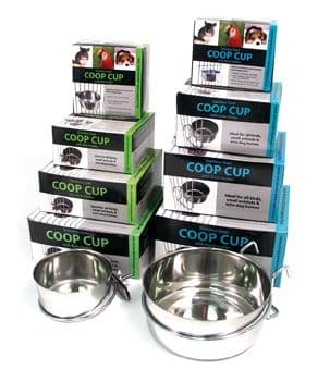 Stainless Steel Hook-On Dog Water Coop  Bowls