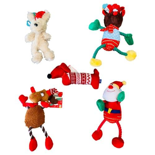 SUPER SOFT Christmas dog Toy Bundle (5 toys!)