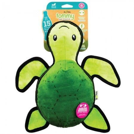 TOMMY THE TURTLE ROUGH & TOUGH TOY - Made from recycled plastic bottles