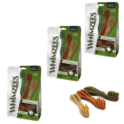 Whimzees Toothbrush Value Pack Dental Daily Dog Chews Teeth Clean