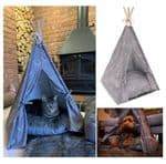 Wolf and Tiger Lifestyle Funky Antler Hygge Dog TEEPEE bed