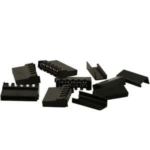 Pack of 5 Black SATA Power Connectors With End Caps