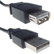 USB 2.0 Black Type A Extension Cable Male To Female 3m