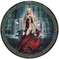 Dragon Bathers Wall Clock by James Ryman - 34cm