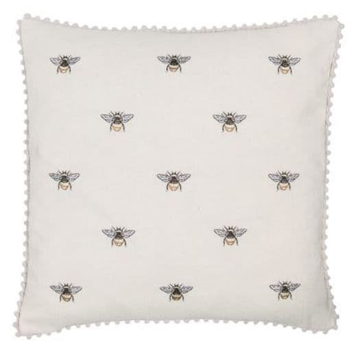 Cream Bee Cushion - 45cm