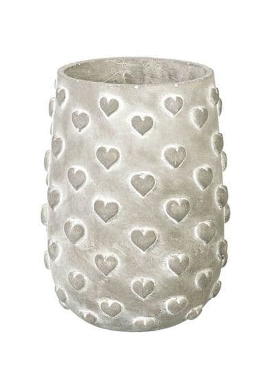 Grey Multi Heart Planter - Large