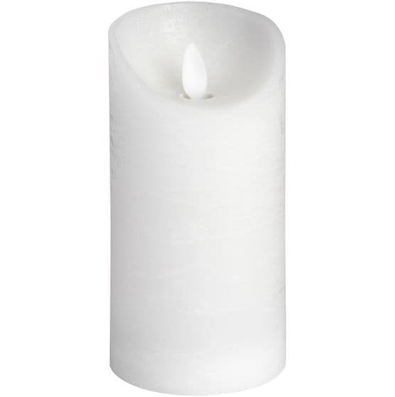 "LED White Silver Wax Flicker Flame Candle - 6"" x 3"""