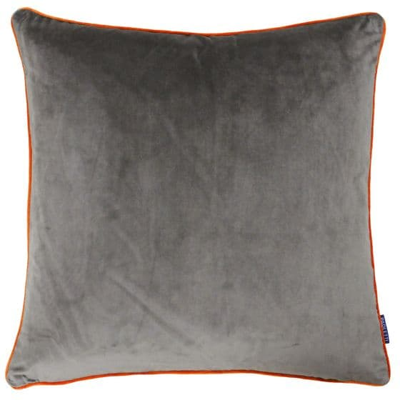 Mocha & Orange Velvet Cushion
