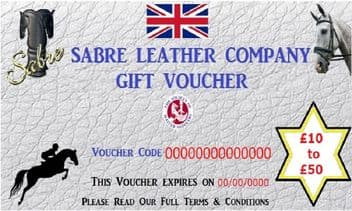 Sabre Leather Gift Vouchers