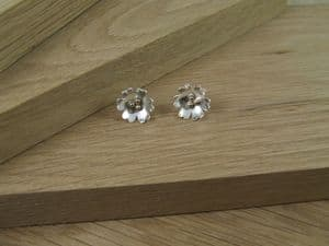 Banks Rose Earrings with 9ct Gold Detail