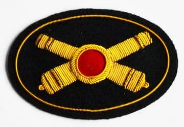 Artillery Officers Deluxe Hat Insignia Badge