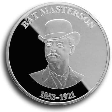 Bat Masterson Collectible Medallion - Silver Finish