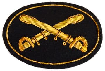 Cavalry Officers Deluxe Hat Insignia Badge