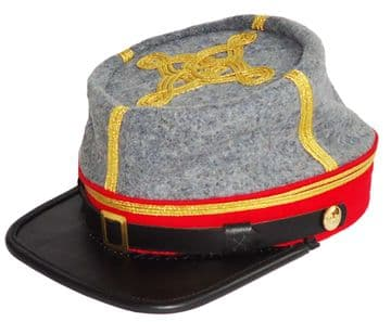 Confederate 1861 Pattern Artillery Major Or Colonel's Kepi
