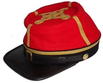 Confederate Artillery Major Or Colonel's Kepi With Black Band