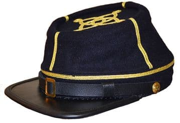 Confederate Blue Captain's Kepi