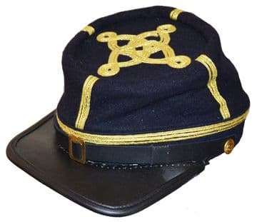 Confederate Blue Colonel Or Majors Kepi
