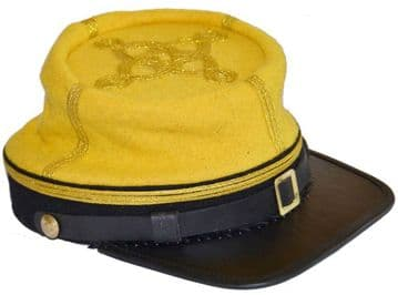 Confederate Cavalry Majors Or Colonel's Kepi With Black Band